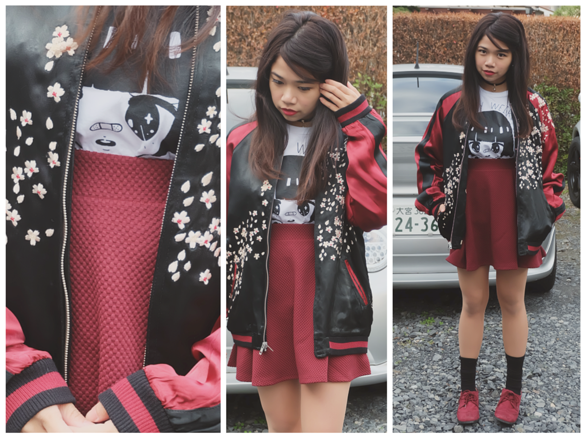 Kaila Sukajan Souvenir Jacket outfit3