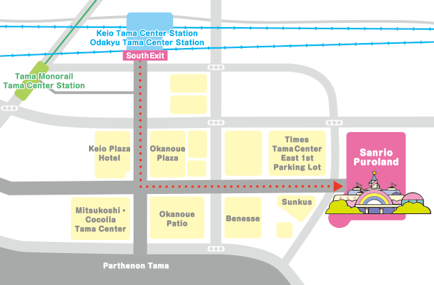 sanrio puroland map