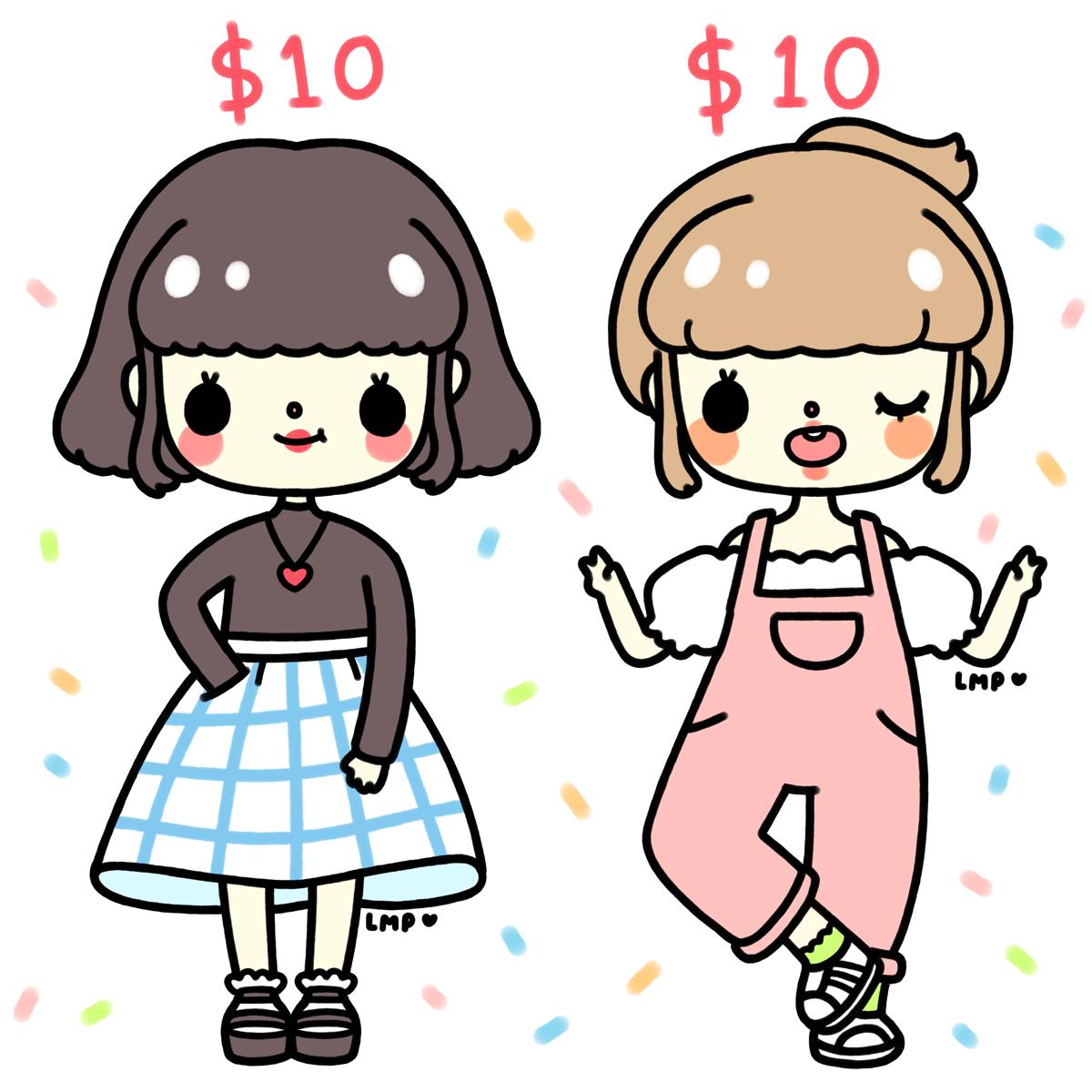 10 dollar commissions