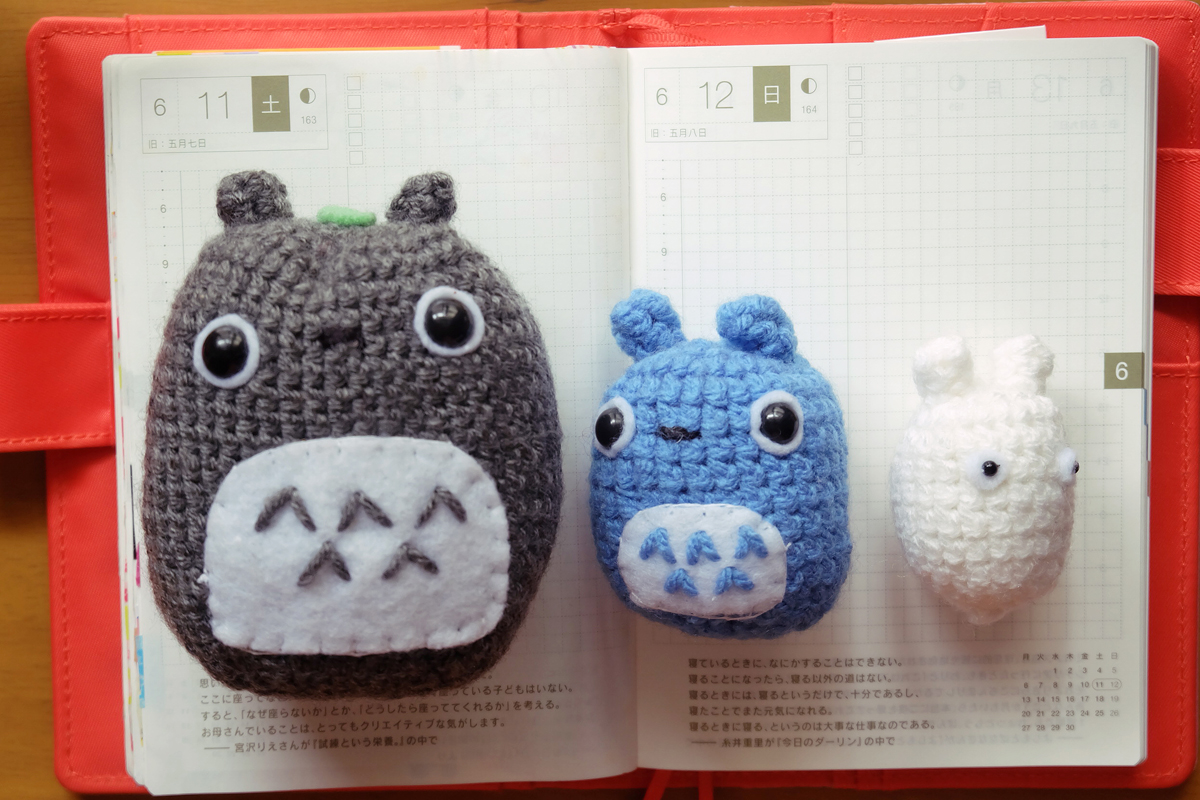 kawaii totoro hobonichi diary 1