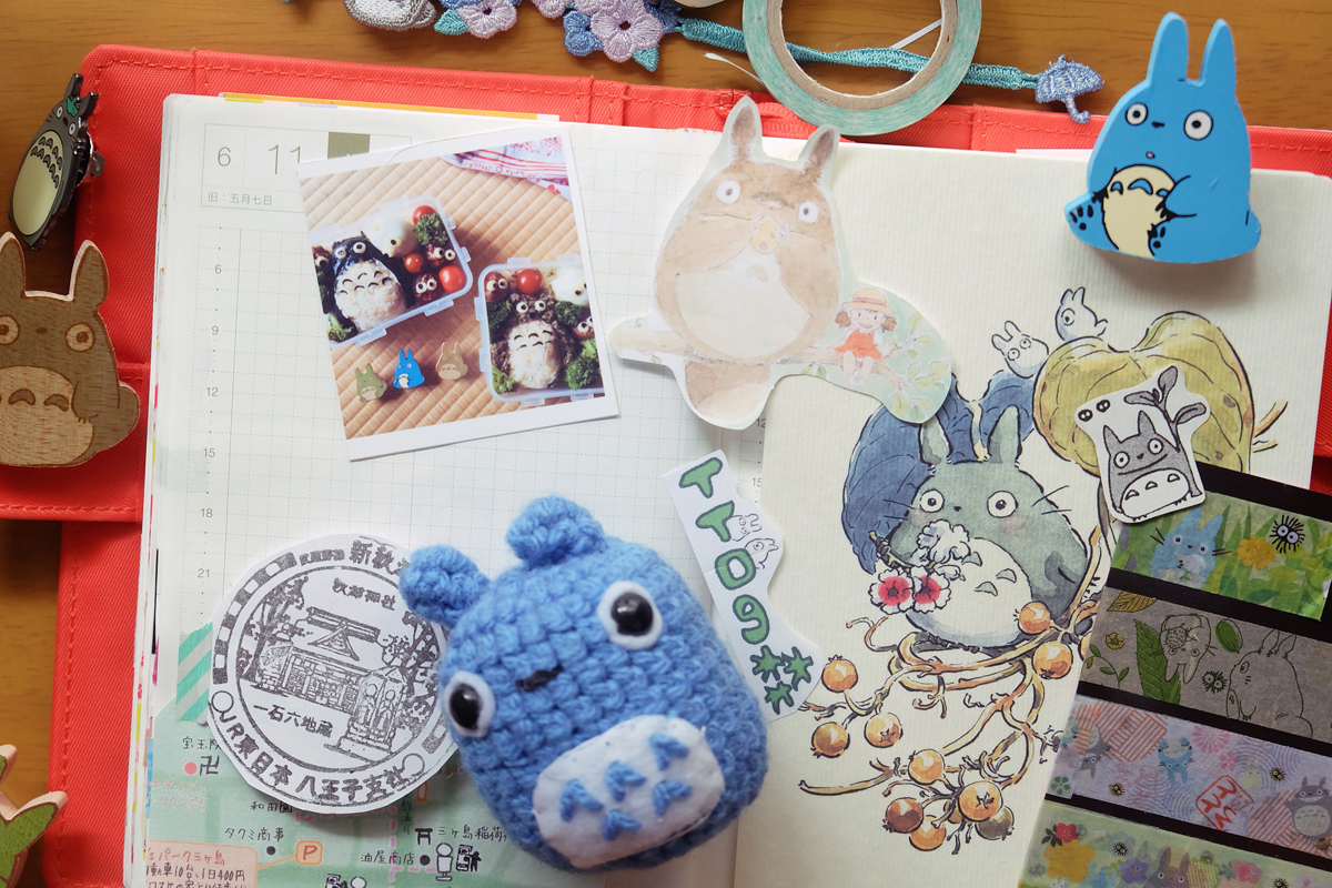 kawaii totoro hobonichi diary 4