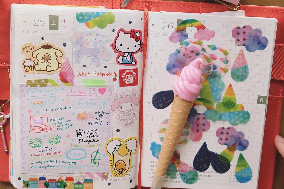 DSCF6378 hobonichi techo kawaii diary