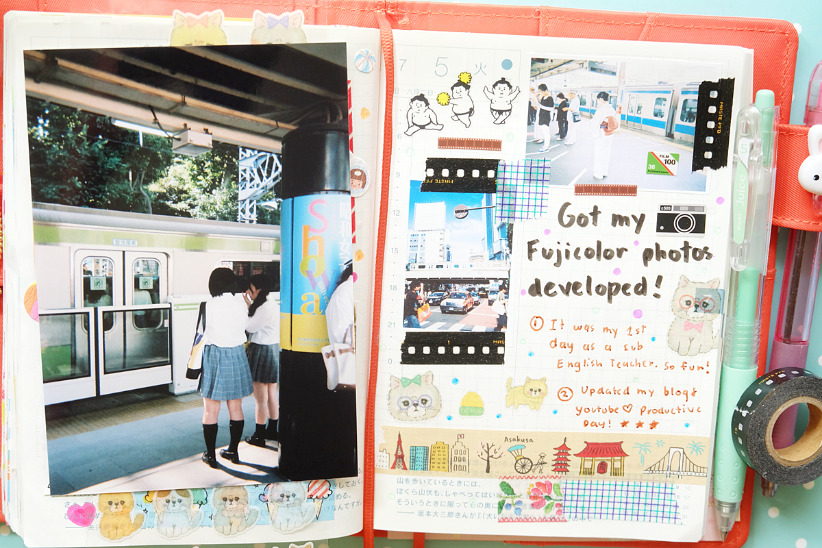 Kawaii Hobonichi With Me Rainbowholic Diary Journal 2