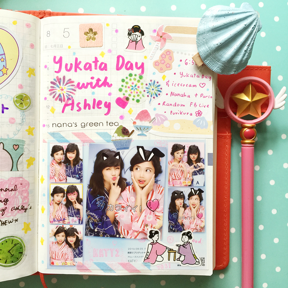 Kawaii Hobonichi With Me Rainbowholic Diary Journal 21