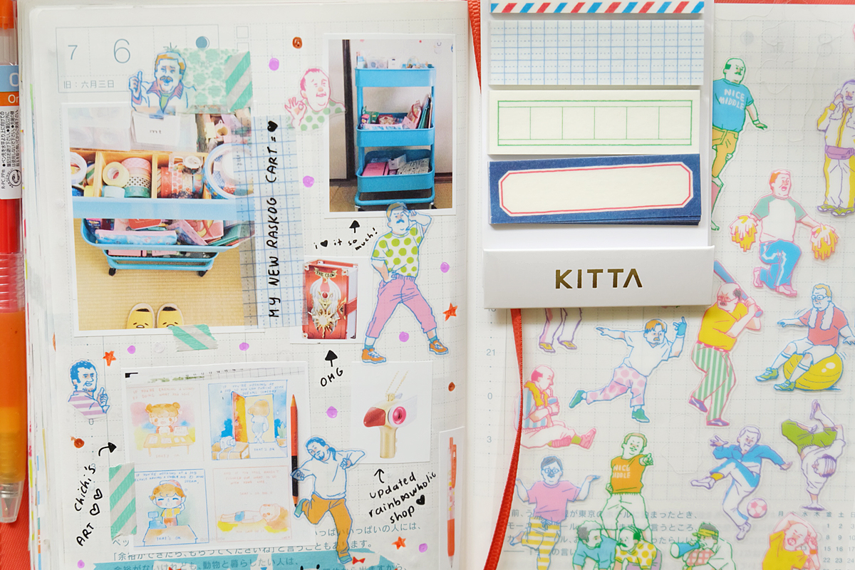 Kawaii Hobonichi With Me Rainbowholic Diary Journal 4