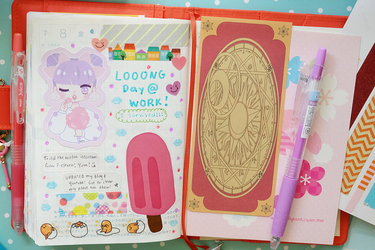 Kawaii Hobonichi With Me Rainbowholic Diary Journal 8