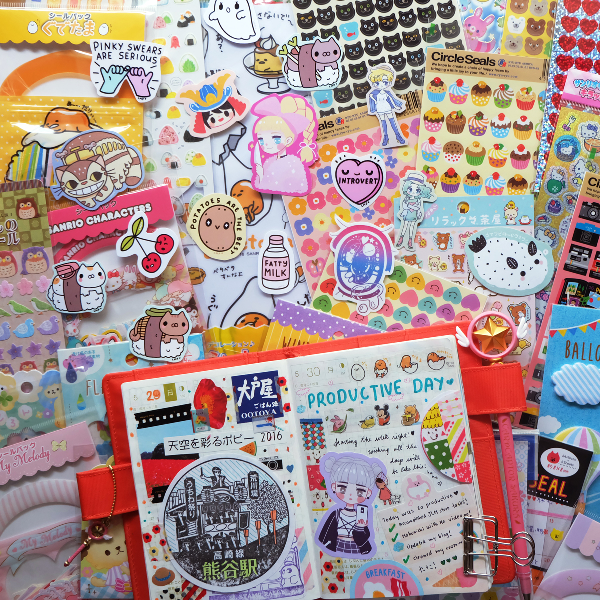 kawaii sticker stationery rainbowholic shop japan 2