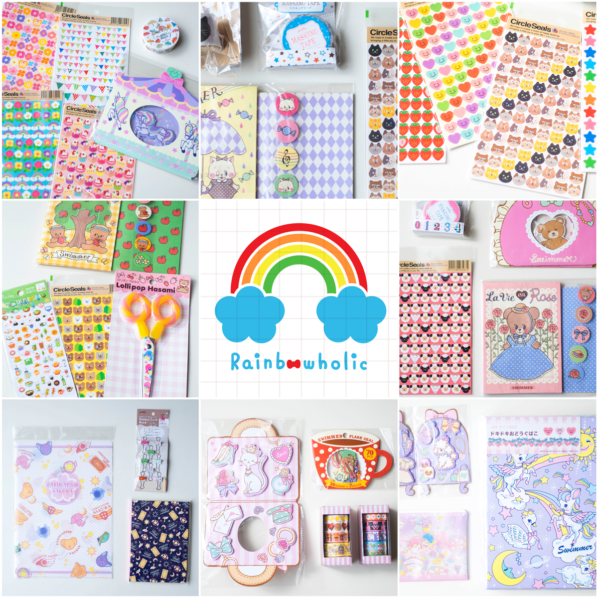kawaii-japanese-stationery-rainbowholic-shop